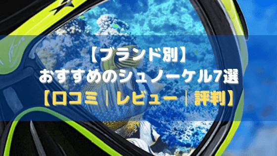 【ブランド別】おすすめのシュノーケル7選【口コミ・評判・まとめ】