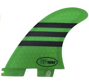 フィン_UPSURF FCS II G3/G5/G7サイズ ブルーハニカム スラスタ3枚セット