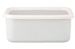 タッパー型保存容器_富士ホーロー L リリーホワイト